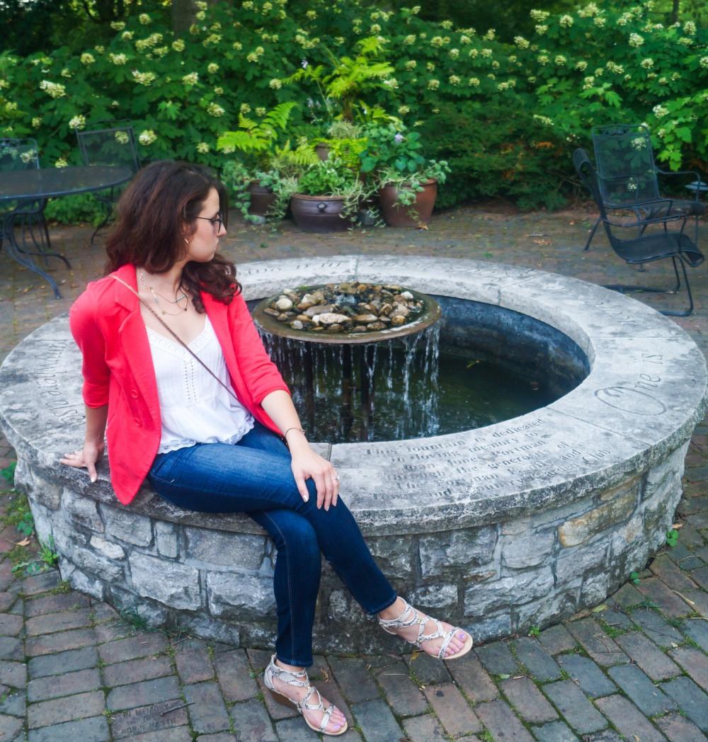 Lace Cami + Jeans